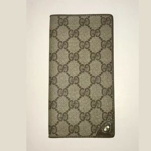AUTHENTIC GUCCI GG MONOGRAM  CHECKBOOK COVER